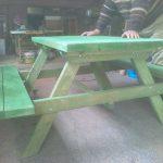 bahçe ve piknik masası