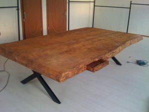 kütük toplantı masası