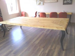 lükens ayaklı kütük toplantı masası