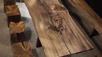 Ahşap Kütük Masa / Ağaç Masa – Sehpa